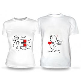 Футболка Парные футболки Магнит Любви