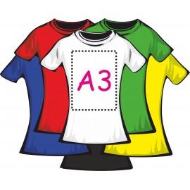Футболка цветная женская 100% хлопок (печать пленкой А3)