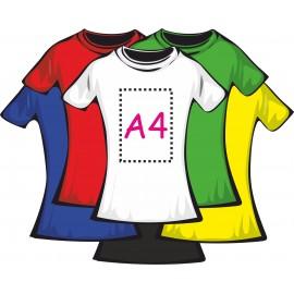 Футболка цветная женская 100% хлопок (печать пленкой А4)