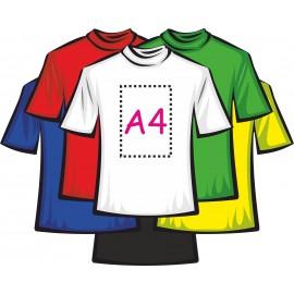 Футболка цветная мужская 100% хлопок (печать пленкой А4)
