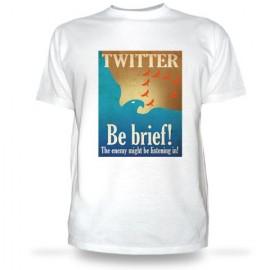 Футболка Твиттер - будь краток