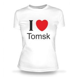 Футболка I love Tomsk (2)
